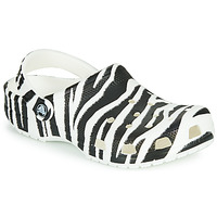 Shoes Women Clogs Crocs CLASSIC ANIMAL PRINT CLOG Zebra