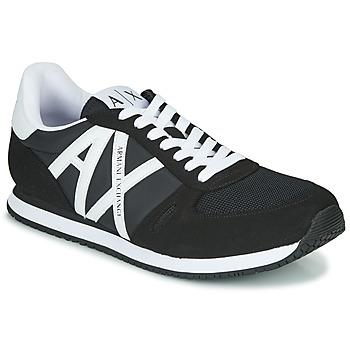 Shoes Men Low top trainers Armani Exchange XCC68-XUX017 Black