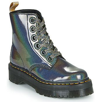 Shoes Women Mid boots Dr Martens VEGAN MOLLY Black / Metallic