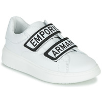 Shoes Children Low top trainers Emporio Armani  White / Black