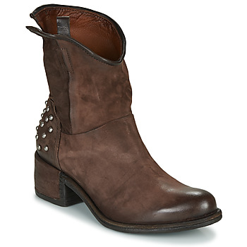 Shoes Women Mid boots Airstep / A.S.98 OPEA STUDS Brown