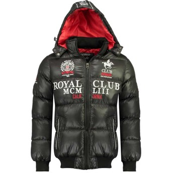 material Boy Duffel coats Geographical Norway AVALANCHE BOY Black