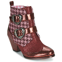 Shoes Women Mid boots Irregular Choice TOO HEARTS Bordeaux