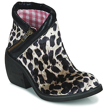 Shoes Women Mid boots Irregular Choice EGGIE SOLDIERS Black / Leopard