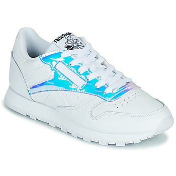 Shoes Women Low top trainers Reebok Classic CL LTHR White / Iridescent