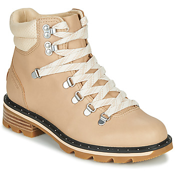 Shoes Women Mid boots Sorel LENNOX HIKER Beige