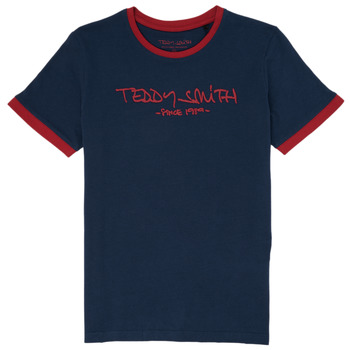 material Boy short-sleeved t-shirts Teddy Smith TICLASS 3 Marine
