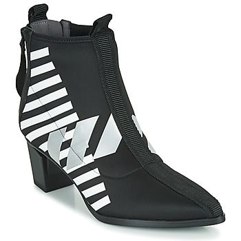 Shoes Women Ankle boots United nude LEV CALLI MID Black / White / Grey