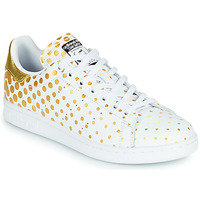 Shoes Women Low top trainers adidas Originals STAN SMITH W White / Polka dot / Gold