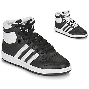 Shoes Children High top trainers adidas Originals TOP TEN J Black / White