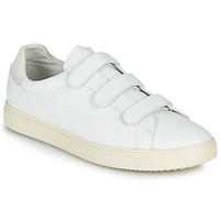 Shoes Low top trainers Clae BRADLEY VELCRO White / Grey