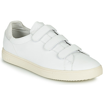 Shoes Low top trainers Claé BRADLEY VELCRO White / Grey