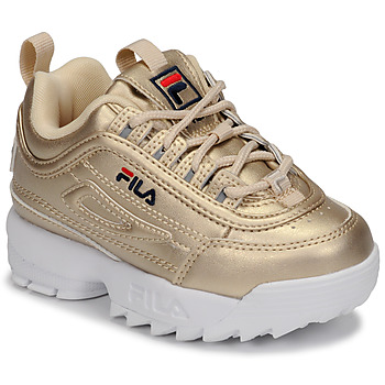 Shoes Girl Low top trainers Fila DISRUPTOR F INFANTS Gold