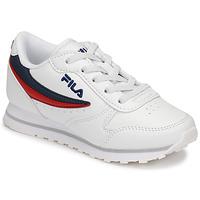 Shoes Children Low top trainers Fila ORBIT LOW KIDS White / Blue