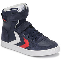 Shoes Children High top trainers Hummel SLIMMER STADIL HIGH JR Blue