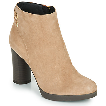 Shoes Women Ankle boots Geox ANYLLA HIGH Beige