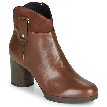 Shoes Women Ankle boots Geox ANYLLA MID Brown