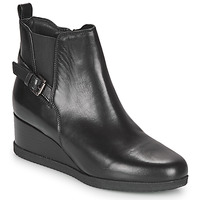 Shoes Women Ankle boots Geox ANYLLA WEDGE Black