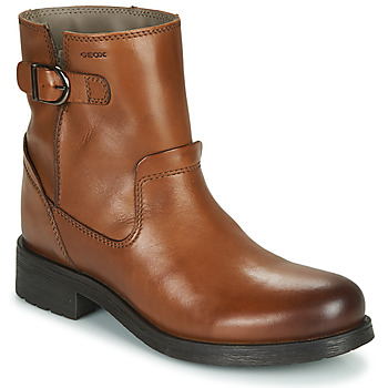 Shoes Women Mid boots Geox RAWELLE Cognac