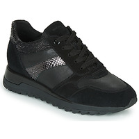 Shoes Women Low top trainers Geox TABELYA Black