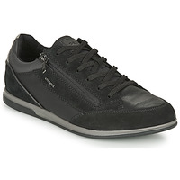 Shoes Men Low top trainers Geox RENAN Black