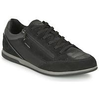 Shoes Men Low top trainers Geox RENAN Black