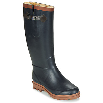 Shoes Women Wellington boots Aigle AIGLENTINE FUR Marine / Amber