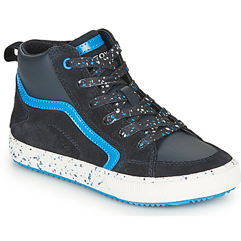Shoes Boy High top trainers Geox ALONISSO Marine