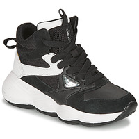 Shoes Girl Low top trainers Geox BUBBLEX Black / White