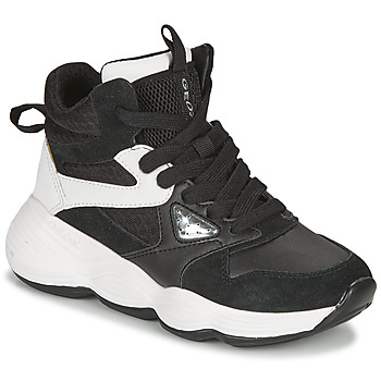 Shoes Girl High top trainers Geox BUBBLEX Black / White