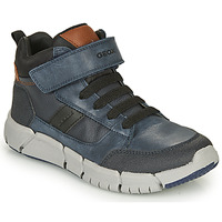 Shoes Boy Mid boots Geox FLEXYPER Marine / Black
