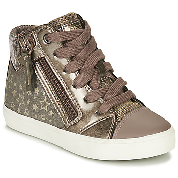 Shoes Girl High top trainers Geox GISLI Bronze