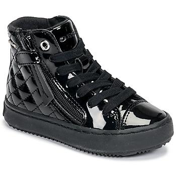 Shoes Girl High top trainers Geox KALISPERA Black