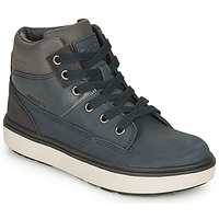 Shoes Boy Mid boots Geox MATTIAS ABX Marine / Grey