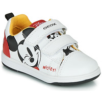 Shoes Boy Low top trainers Geox NEW FLICK MICKEY White / Red