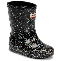 Shoes Girl Wellington boots Hunter KIDS FIRST CLASSIC GLITTER Black