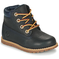 Shoes Children Mid boots Timberland POKEY PINE 6IN BOOT WITH Blue