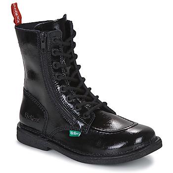 Shoes Women Mid boots Kickers MEETICKZIP Black / Varnish