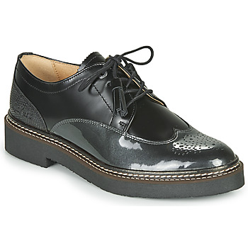 Shoes Women Derby shoes Kickers OXANYBY Black / Silver