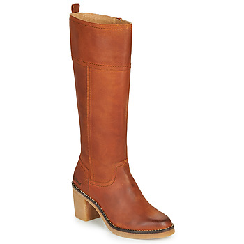 Shoes Women Boots Kickers AVERNO Orange / Camel