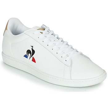 Shoes Low top trainers Le Coq Sportif COURTSET White / Cognac