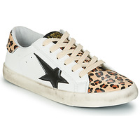 Shoes Women Low top trainers Le Temps des Cerises CITY White / Leopard