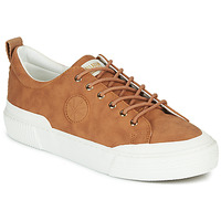 Shoes Women Low top trainers Palladium Manufacture STUDIO 02 Camel