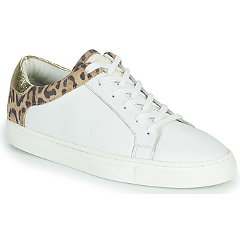 Shoes Women Low top trainers Les Tropéziennes par M Belarbi LOUANE White / Leopard