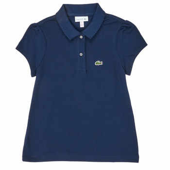 material Girl short-sleeved polo shirts Lacoste PJ3594-166-B Marine