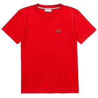 material Boy short-sleeved t-shirts Lacoste TJ1442-F8M-J Red