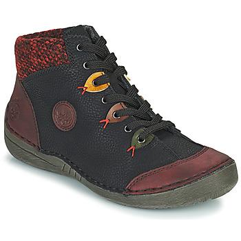 Shoes Women Mid boots Rieker 52513-36 Black / Bordeaux