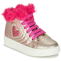 Shoes Girl High top trainers Agatha Ruiz de la Prada BETTYZ Beige / Pink