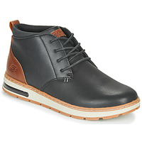 Shoes Men High top trainers Skechers EVENSTON Black / Brown
