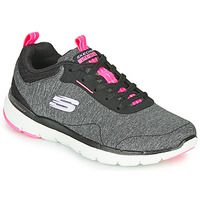 Shoes Women Fitness / Training Skechers FLEX APPEAL 3.0 Grey / Black / Pink